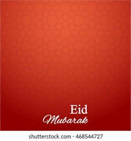 Arabic pattern background for islamic holidays. Eid Mubarak vector illustration red color