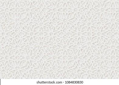 Arabic pattern background. Islamic ornament vector. Geometric 3d shape. Texture arabian traditional motif
