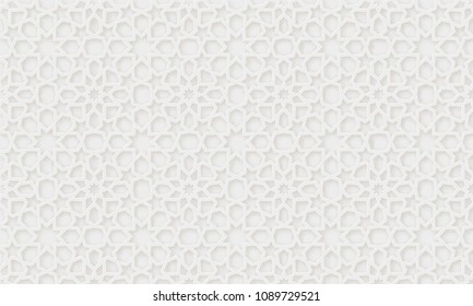 Arabic pattern background. Islamic ornament vector. Geometric 3d shape. Texture arabian traditional motif