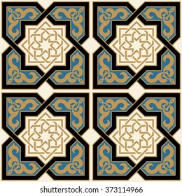 Arabic Seamless Pattern. Traditional Islamic Design. Elegance Background