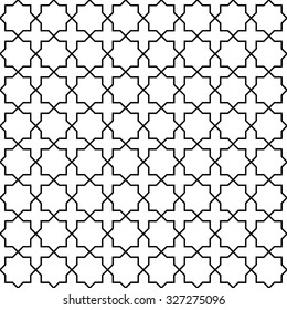 Arabic seamless pattern. Traditional Middle Eastern design. Persian ornament. Abstract in Islamic style. Texture for wallpaper, wrapping, fabric, background, apparel, other print production. Vector