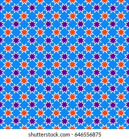 Arabic  seamless  pattern,Islamic  geometrical background.Ramadan kareem..For printing on packaging, textiles, fabric, paper . Vector illustration.