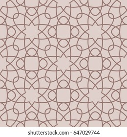 Фотообои Arabic seamless patterns. Beige ornaments for textile and fabric