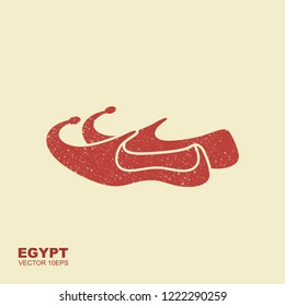 Arabic shoes icon. Flat illustration of arabic shoes babouches vector icon