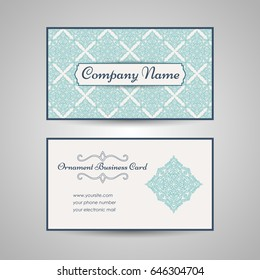 Arabic style business card template. Vector illustration