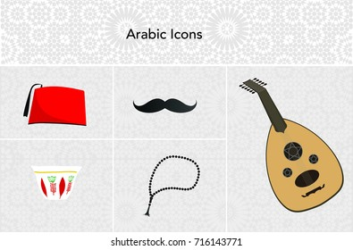 Arabic Turkish Icons - Vector Illustrations