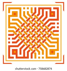 arabic typography square kufic style