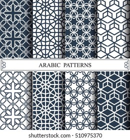 arabic vector pattern, web page background,surface textures