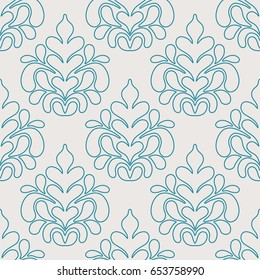 Arabic vintage decorative design seamless pattern. Vector illustration