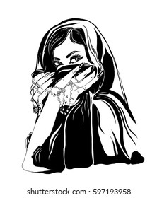 Arabic woman portrait.