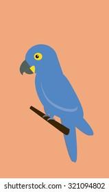 Ararinha Azul Vector