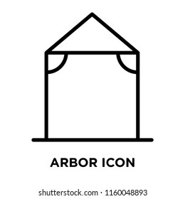 Arbor icon vector isolated on white background, Arbor transparent sign , line or linear sign, element design in outline style