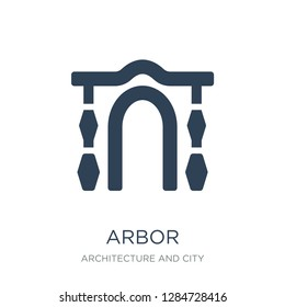arbor icon vector on white background, arbor trendy filled icons from Architecture and city collection, arbor vector illustration