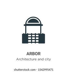 Arbor vector icon on white background. Flat vector arbor icon symbol sign from modern architecture and city collection for mobile concept and web apps design.