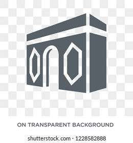 Arc de triomphe icon. Trendy flat vector Arc de triomphe icon on transparent background from Architecture and Travel collection. High quality filled Arc de triomphe symbol use for web and mobile