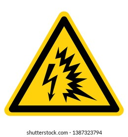 Arc Flash Symbol Sign, Vector Illustration, Isolate On White Background Label .EPS10