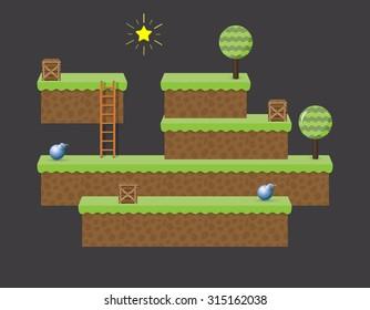 Arcade computer game world - isometric level