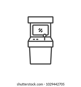 Arcade game machine line icon.