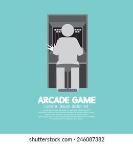 Arcade Machine Player Graphic Symbol Vector Illustration