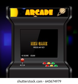 Arcade machine screen, vector background