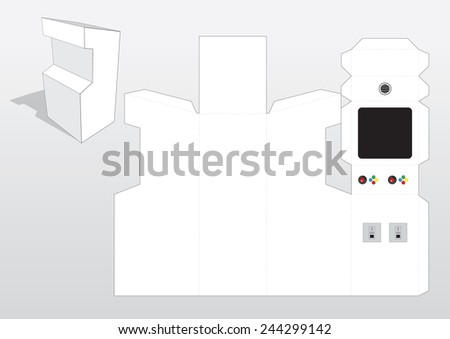 arcade machine template stock vector royalty free 244299142