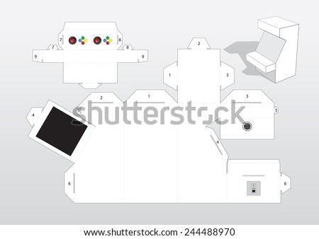 arcade machine template stock vector royalty free 244488970
