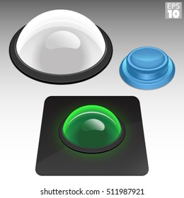 Arcade Trackball And Concave Push Button Control Panel Set
