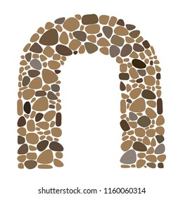 Arch, Background Stone Wall ,Vector illustration