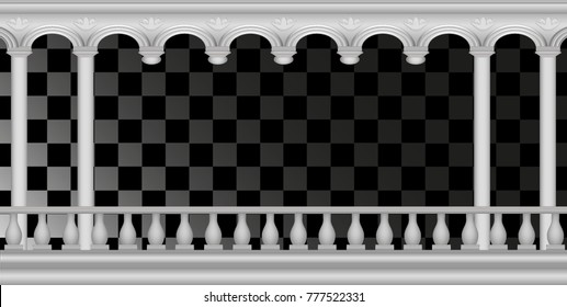 arch, frame, element of the palace, columns and balustrades