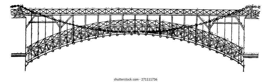Similar Images, Stock Photos & Vectors of Rope Bridge Made Wooden ...