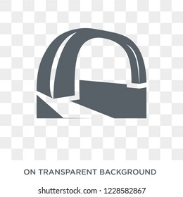 Arch icon. Trendy flat vector Arch icon on transparent background from Architecture and Travel collection. High quality filled Arch symbol use for web and mobile