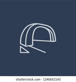 Arch icon. Trendy flat vector line Arch icon on dark blue background from Architecture and Travel collection.