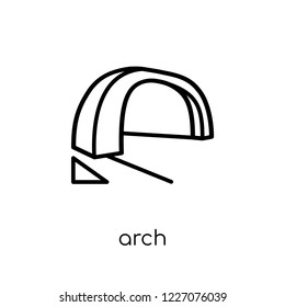 Arch icon. Trendy modern flat linear vector Arch icon on white background from thin line Architecture and Travel collection, editable outline stroke vector illustration
