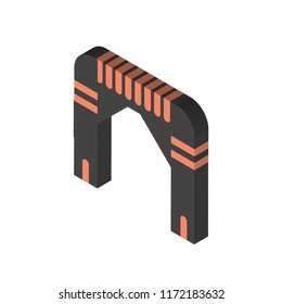 Arch isometric left top view 3D icon