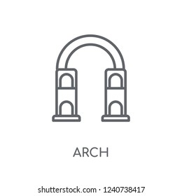 Arch linear icon. Modern outline Arch logo concept on white background from Architecture and Travel collection. Suitable for use on web apps, mobile apps and print media.