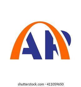arch logo vector. letter A and R logo vector.