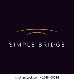 Arch River Bridge Simple Minimalist logo design