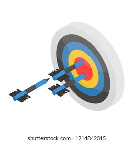 Arch shooting on target icon. Isometric of arch shooting on target vector icon for web design isolated on white background