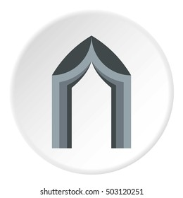 Arch tent icon. Flat illustration of arch tent vector icon for web