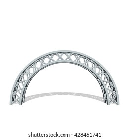 Arch truss. Isolated on white background.Vector illustration.
