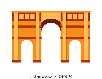 Arch vector architecture ancient frame arch