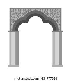 Arch vector icon isolated and architecture ancient frame arch