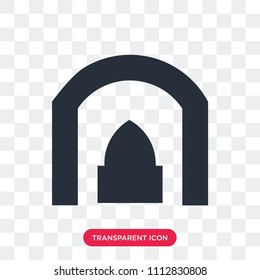 Arch vector icon isolated on transparent background, Arch logo concept