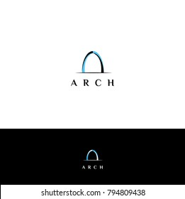 Arch vector logo. Arch design element bor business, architecture or design firm