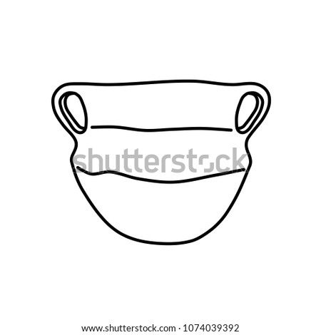 Archaeological Object Prehistoric Pot Schematically Depicted Stock on