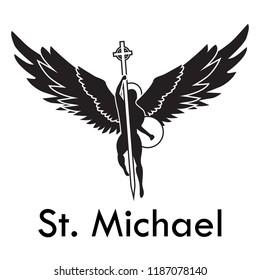Archangel Michael Tattoo/Logo Highly Customizable