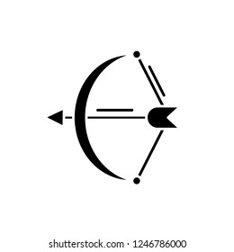 Archer black icon, vector sign on isolated background. Archer concept symbol, illustration