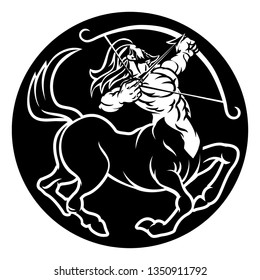 An archer centaur Sagittarius horoscope astrology zodiac sign symbol