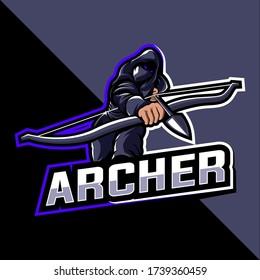 Archer esport mascot logo Vector