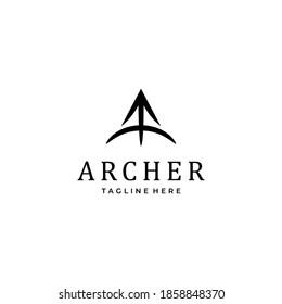 Archer Logo Design simple elegant with A letter  logo icon inspiration